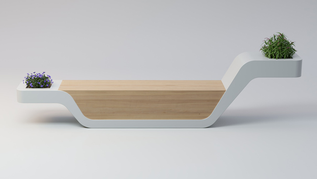 NESSIE | bench with planters | 2019